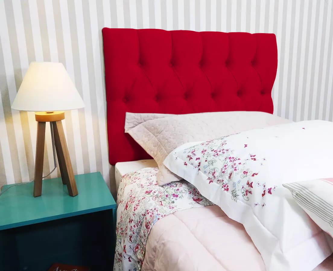 Cabeceira Painel Estofada Paris Suede Rosa Pink